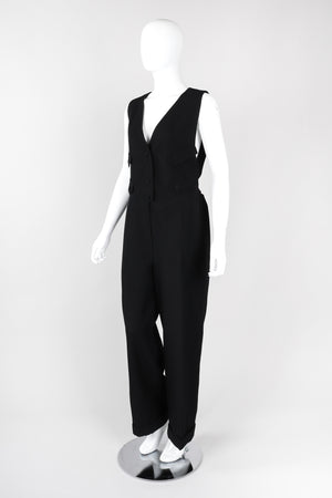 Recess Los Angeles Vintage Karl Lagerfeld Wool Vest Suiting Tuxedo Jumpsuit