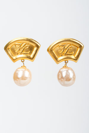 Pearl Fan Drop Earrings