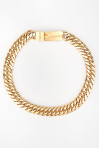 Recess Los Angeles Designer Consignment Vintage Karl Lagerfeld Chunky Thick Cuban Curb Chain Logo Choker Collar Necklace