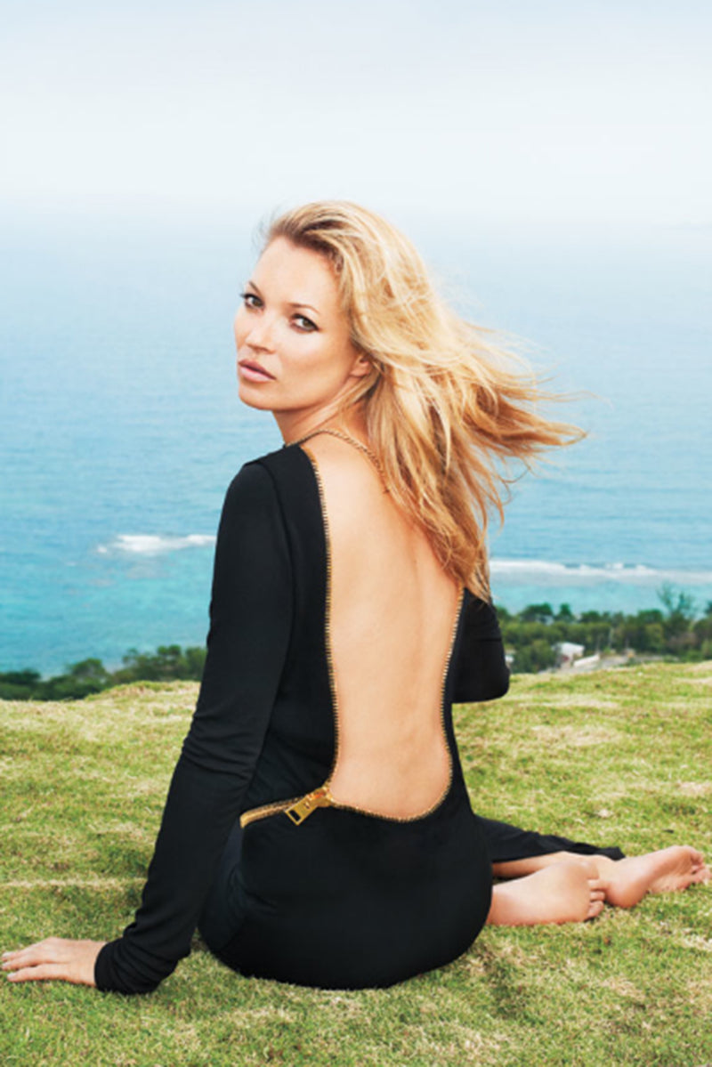 kate moss in Vintage Tom Ford AW 2012 Plunge Back Zipper Gown at Recess Los Angeles