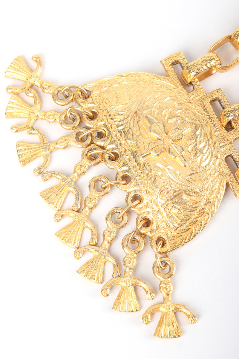 Recess Designer Consignment Vintage Kenneth Lane Egyptian Revival Bird Plate Pendant Necklace Los Angeles Resale