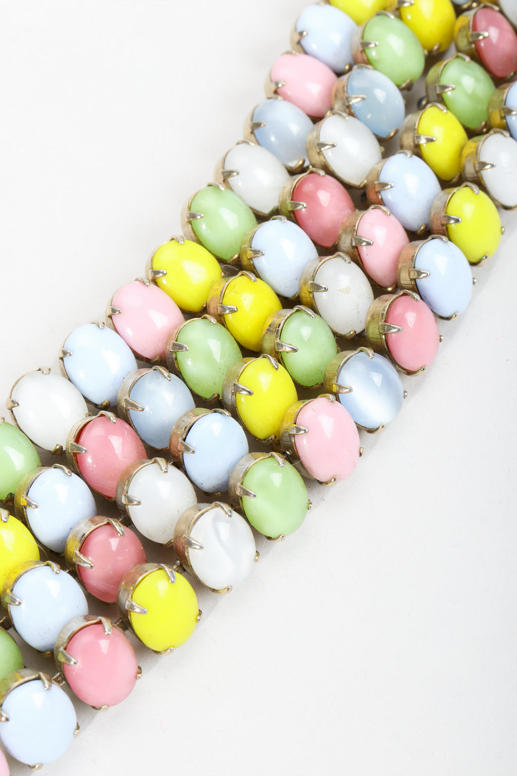 Vintage Kramer of New York Pastel Cadbury Egg Cuff Bracelet at Recess Los Angeles