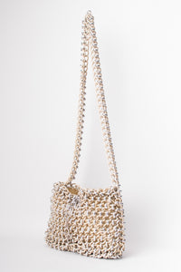 Lewis Vintage Champagne Mixed Metal Chain Link Bag