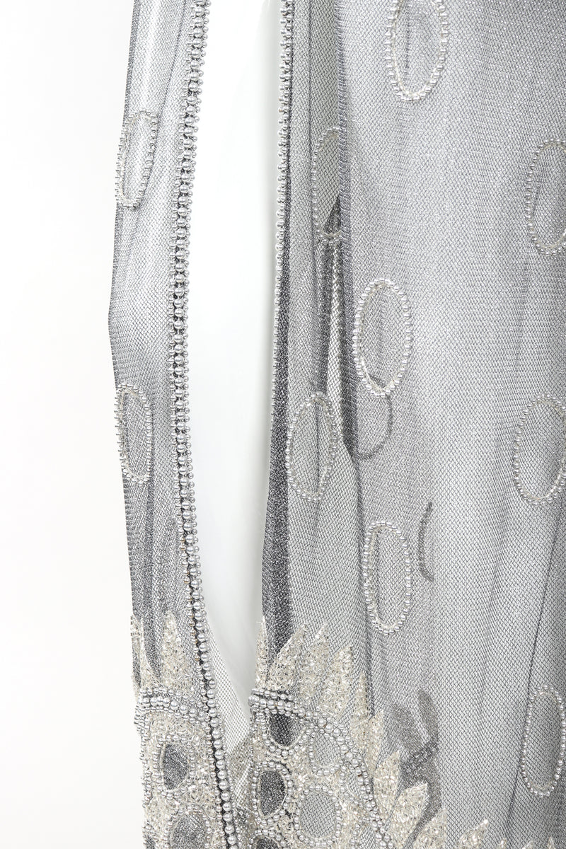 Recess Designer Consignment Vintage L'Affaire Gunmetal Sheer Beaded Duster Robe Jacket Los Angeles Resale
