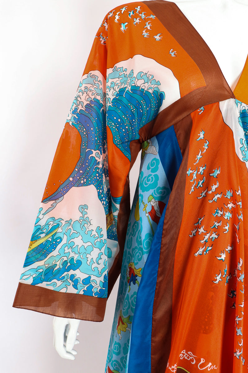Vintage LaVetta of Beverly Hills Signature Silk Scarf Dress Caftan on Mannequin sleeve at Recess