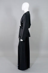 Karl Lagerfeld Vintage Silk Satin Smoking Jacket & Pant