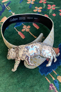 Vintage Laloon Embossed Tiger King Belt at Recess Los Angeles