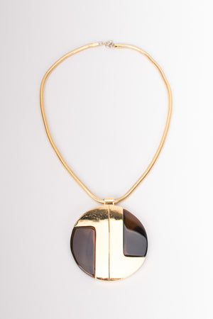 Lanvin Collectable 1968 Runway Modernist Disc Pendant