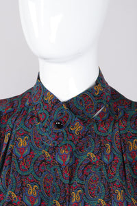 Recess Los Angeles Vintage Lanvin Silk Paisley Print Library Blouse & Skirt Set