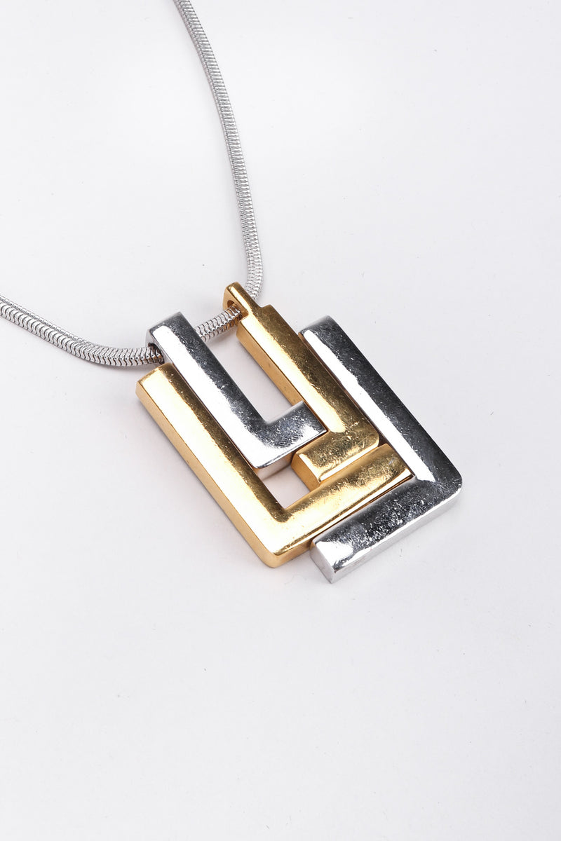 Recess Los Angeles Vintage 1960s Signed Lanvin Modernist L Pendant Necklace