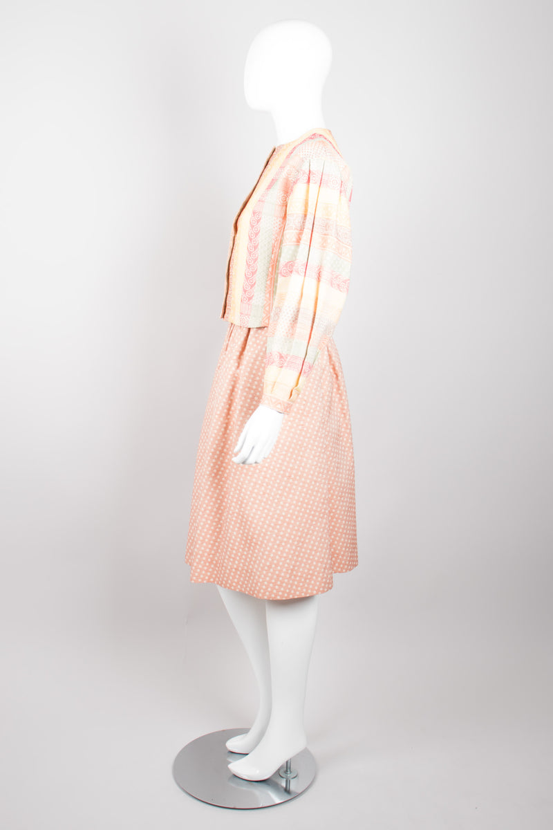 Lanvin Vintage Sherbet Striped Jacket & Skirt Set