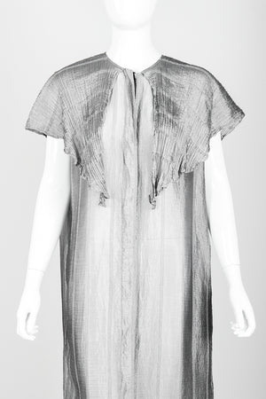 Vintage Laura Biagiotti Metallic Capelet Tunic on Mannequin front crop at Recess Los Angeles