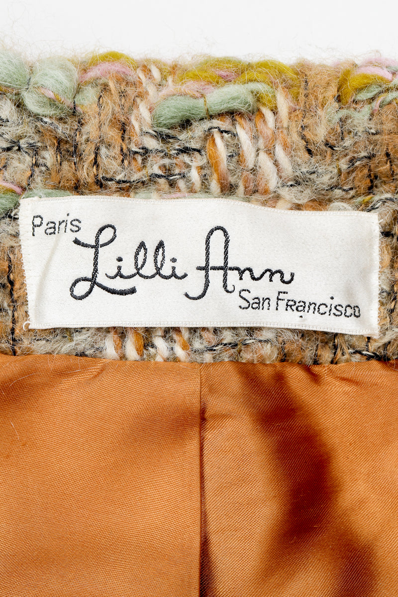 Vintage Lilli Ann Label on Boucle and satin lining