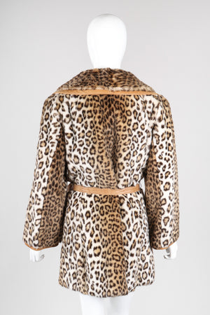Recess Los Angeles Vintage London Leathers by Lilli Ann Faux Cheetah Fur Wrap Coat