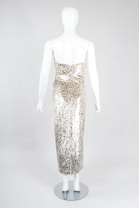 Recess Los Angeles Vintage Lillie Rubin Golden Velvet Lamé Sweetheart Sheath Wedding