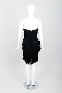 Vintage Lillie Rubin Flower Ruched Cocktail Dress Back at Recess LA