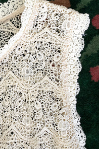 Vintage Lims Sheer Crochet Lace Shell fabric detail at Recess Los Angeles