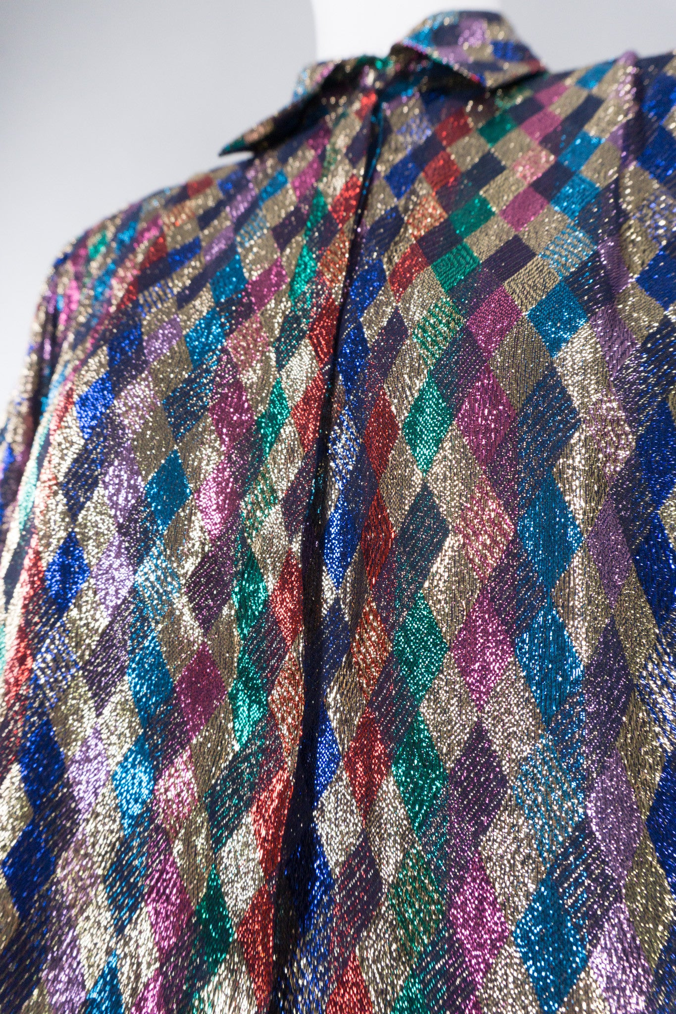 Lloyd Williams Rainbow Metallic Lamé Diamond Blouse