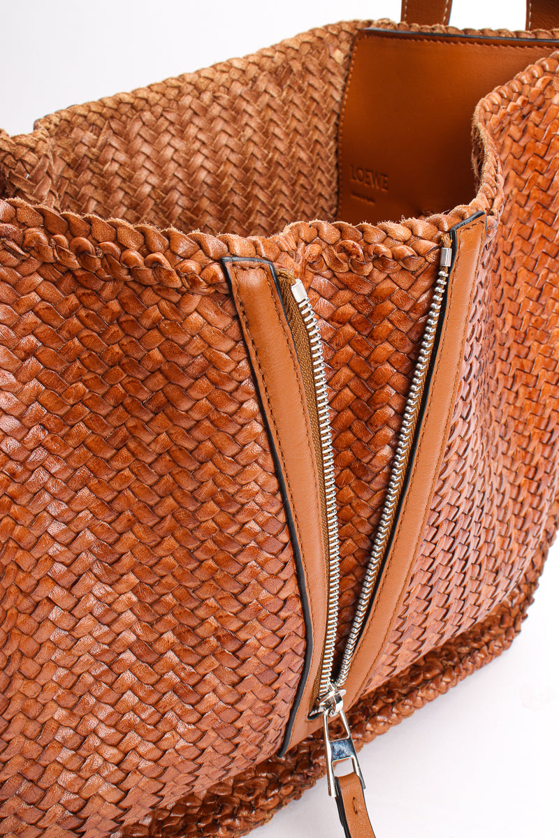 Loewe 2019 Woven Leather Hammock Bag sie zip at Recess Los Angeles