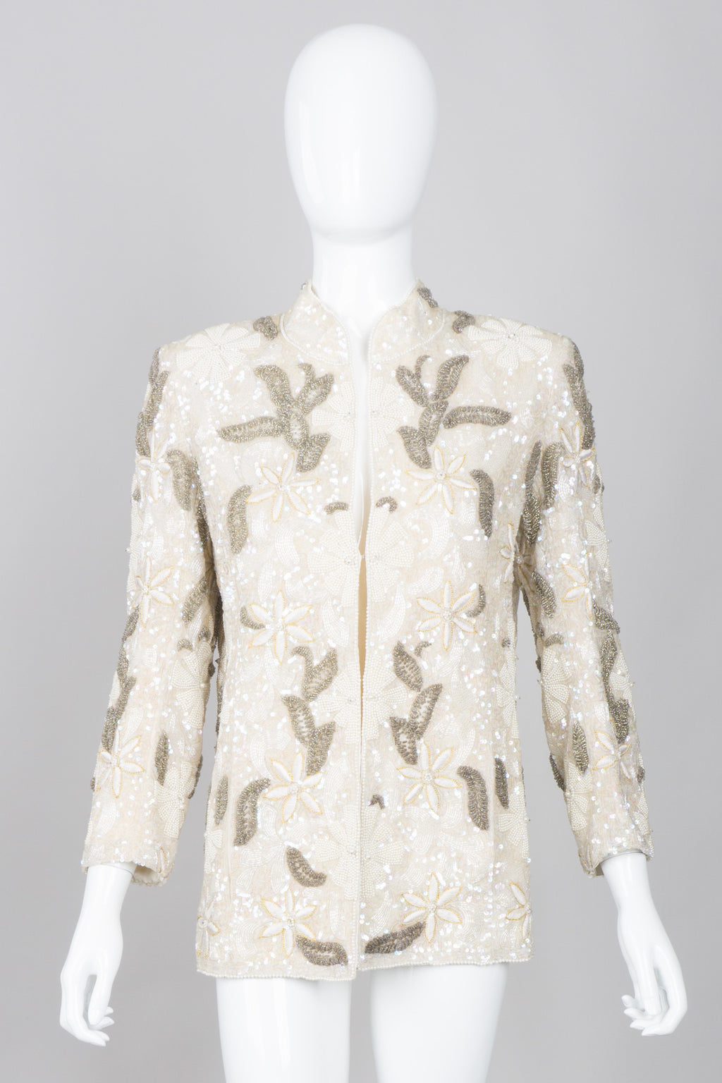 Loris Azzaro Beaded Leaf Jacket