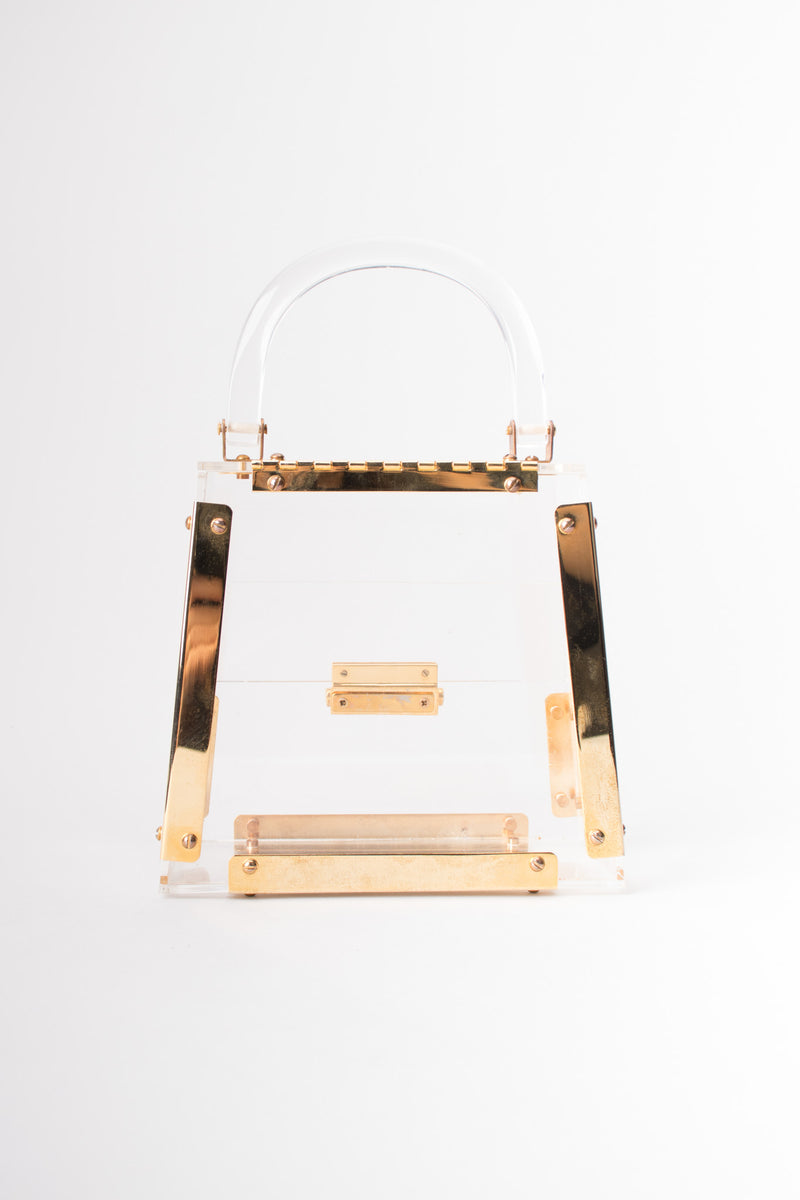 Vintage Lucite Acrylic Clear Box Bag