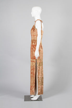 Todd Oldham Velvet Slipdress Side