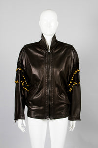 Gianni Versace Leather Macrame Jacket