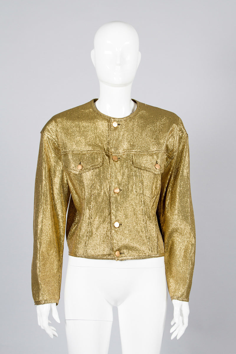Junior Gaultier Metallic Gold Jacket