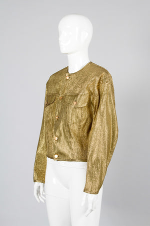 Junior Gaultier Metallic Gold Jacket Side