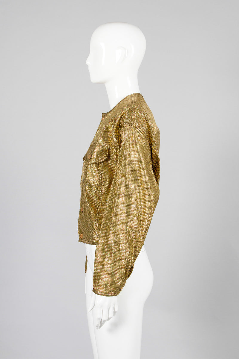 Junior Gaultier Metallic Gold Jacket Side2