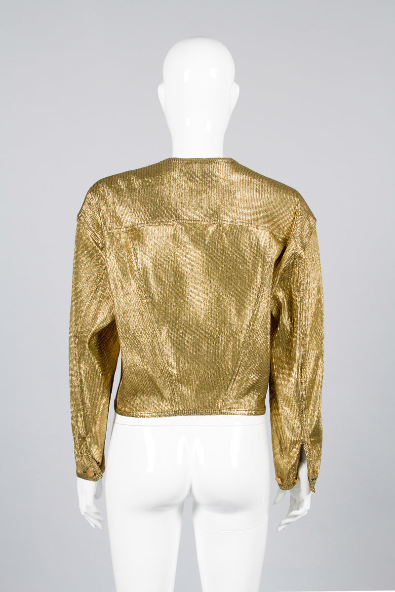 Junior Gaultier Metallic Gold Jacket Back