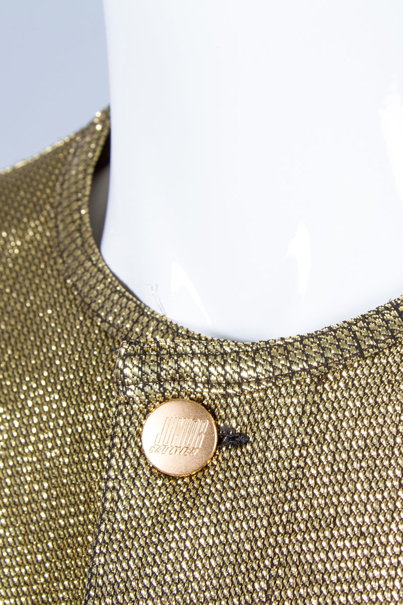 Junior Gaultier Metallic Gold Jacket Neck