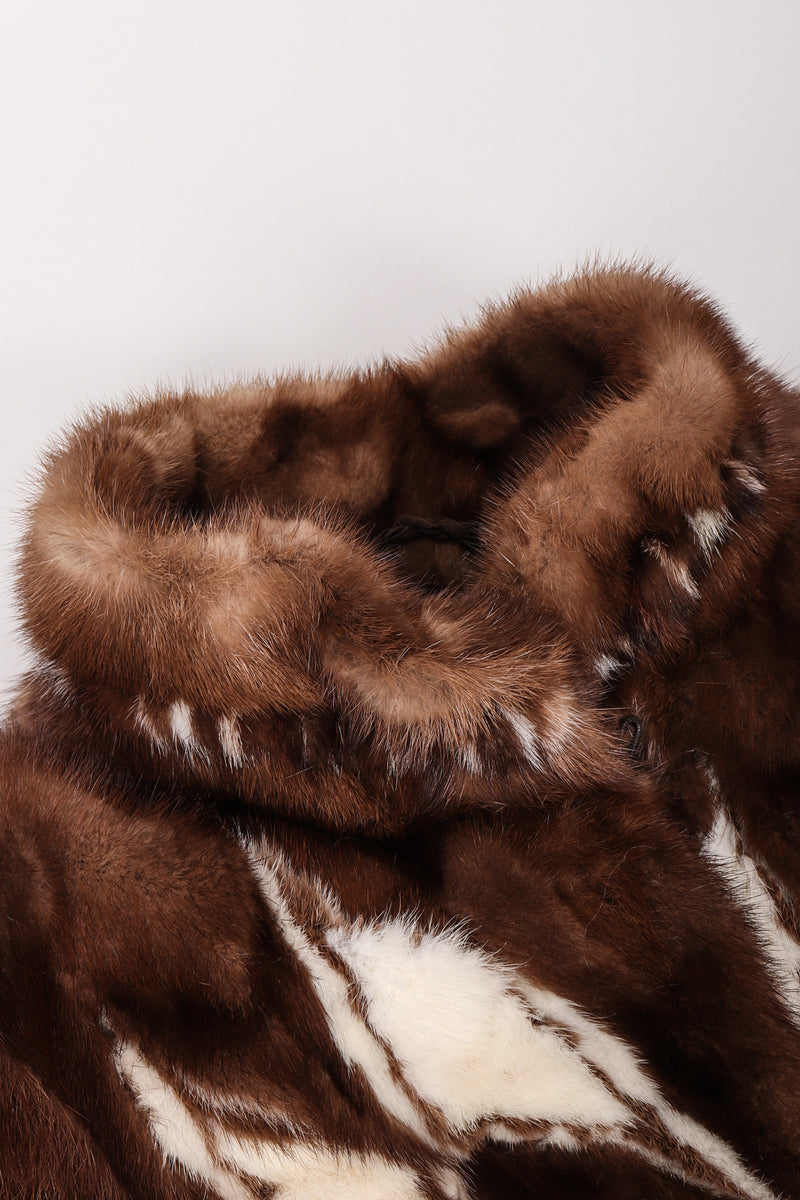 Recess Los Angeles Vintage Mink Diamond Fur Coat