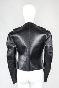 Recess Designer Consignment Vintage Maison Margiela 1998 Leather Flat Pattern Jacket Los Angeles Resale