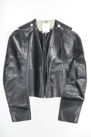 Leather Flat Pattern Jacket
