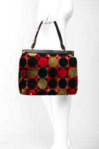 Recess Los Angeles Vintage Markay Bags Mod Geometric Colorblock Chenille Frame Bag