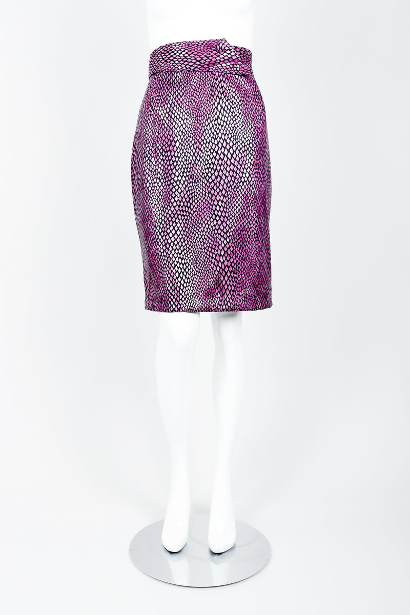 Vintage Marpelli by Udo Reptilian Skirt on Mannequin front at Recess