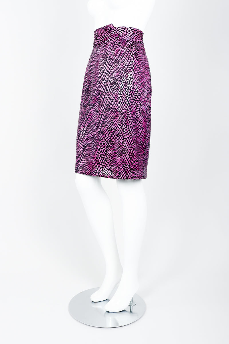 Vintage Marpelli by Udo Reptilian Skirt on Mannequin side at Recess