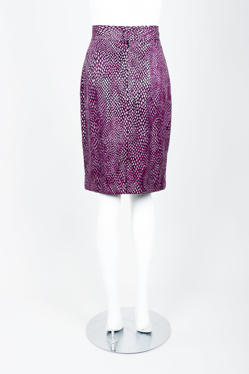 Vintage Marpelli by Udo Reptilian Skirt on Mannequin back at Recess