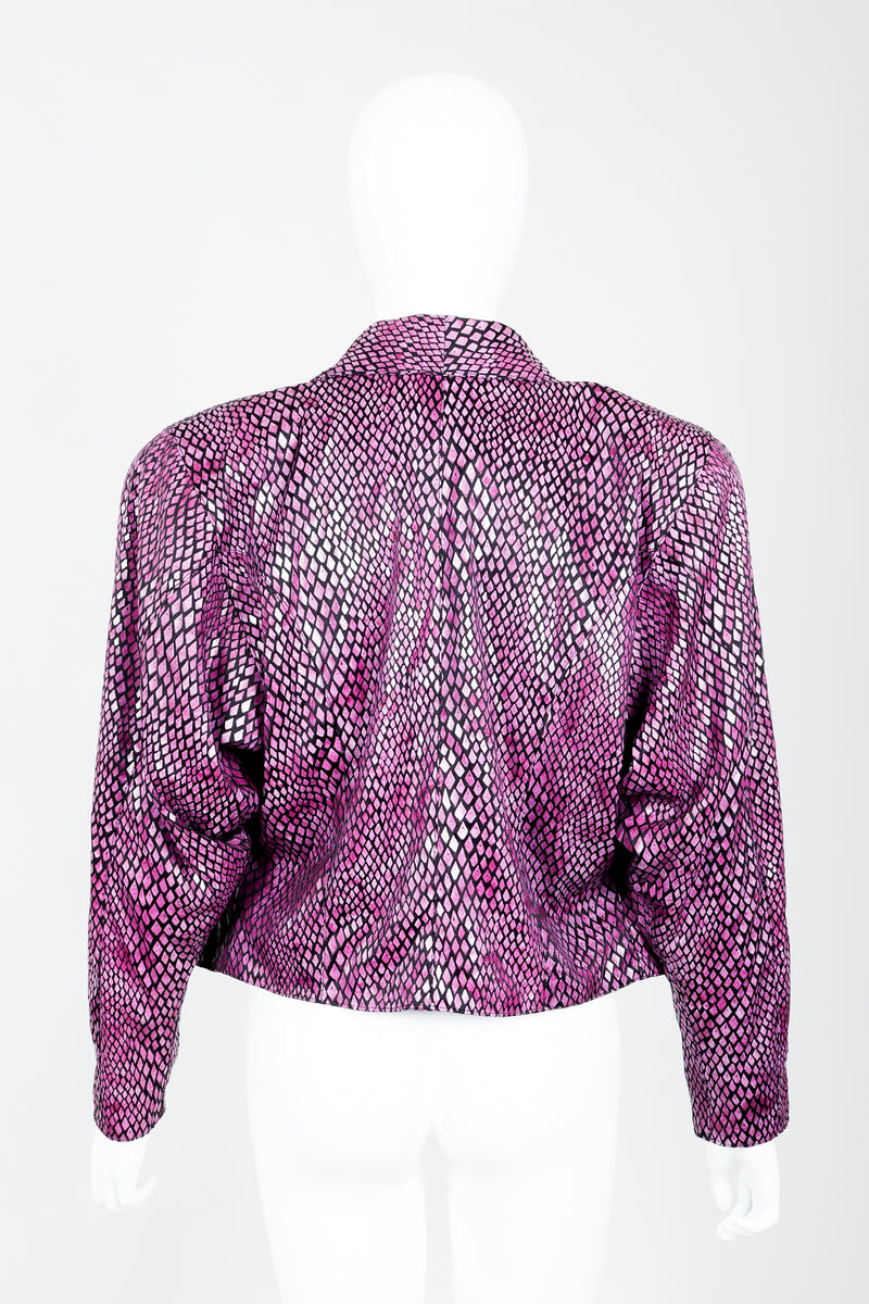 Vintage Marpelli by Udo Reptilian Jacket on Mannequin back at Recess