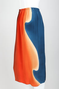 Vintage McKane Sunset Silk skirt Set on mannequin angle at Recess Los Angeles