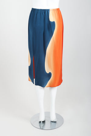Vintage McKane Sunset Silk Kimono Skirt Set on mannequin back at Recess Los Angeles
