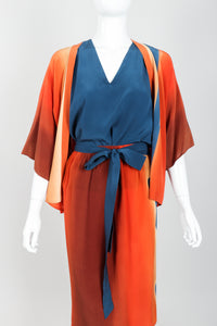 Vintage McKane Sunset Silk Kimono Set on mannequin front crop at Recess Los Angeles
