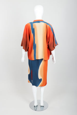 Vintage McKane Sunset Silk Kimono Set on mannequin back at Recess Los Angeles