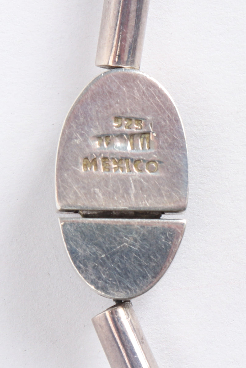 Vintage 925 Mexico Sterling Silver Spike Necklace Stamp at Recess Los Angeles