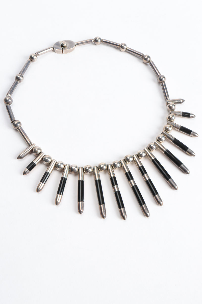 Vintage 925 Mexico Sterling Silver Spike Necklace at Recess Los Angeles