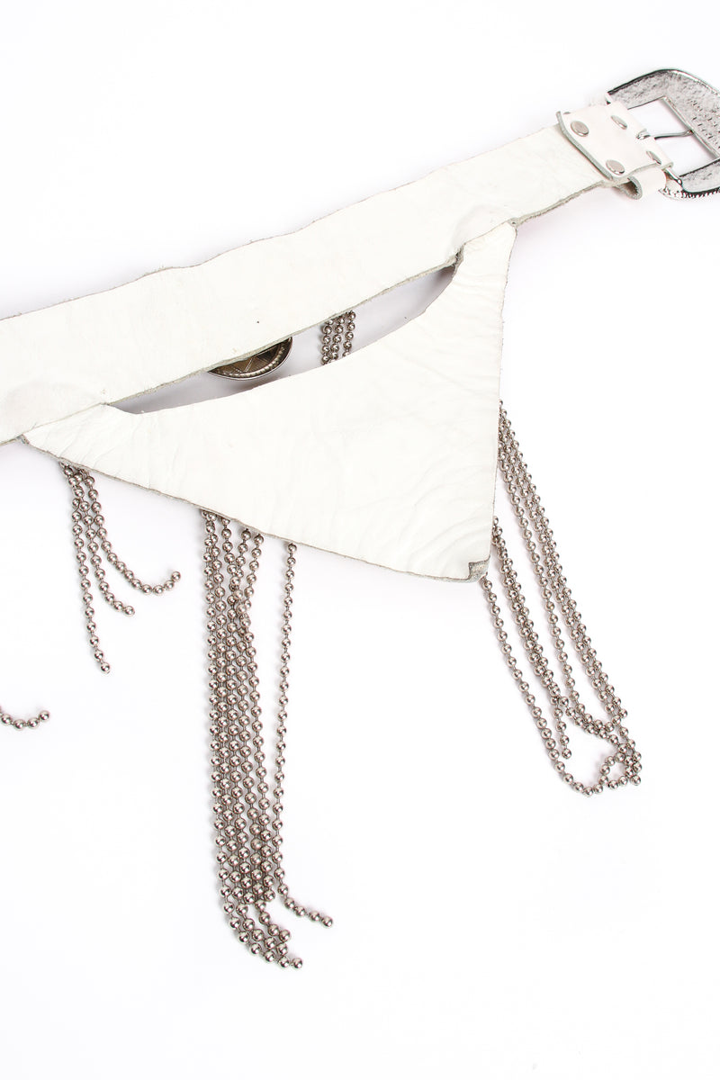 Vintage Michael Morrison Studded Jeweled Ball Chain Fringe Belt back wear at Recess Los Angeles