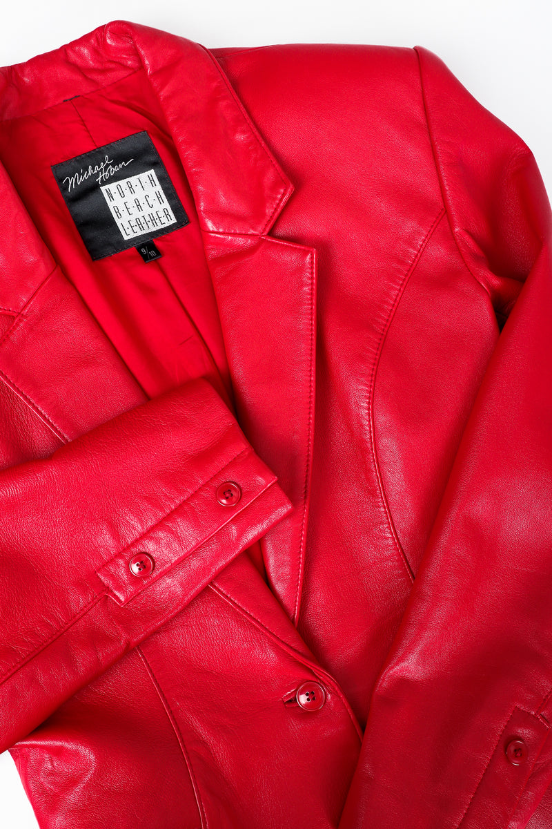 Vintage North Beach Leather by Michael Hoban Leather Jacket Lapel