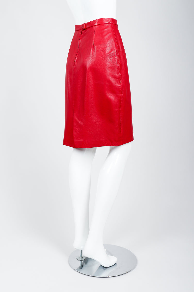 Vintage North Beach Leather by Michael Hoban Leather Skirt on Mannequin Side at Recess