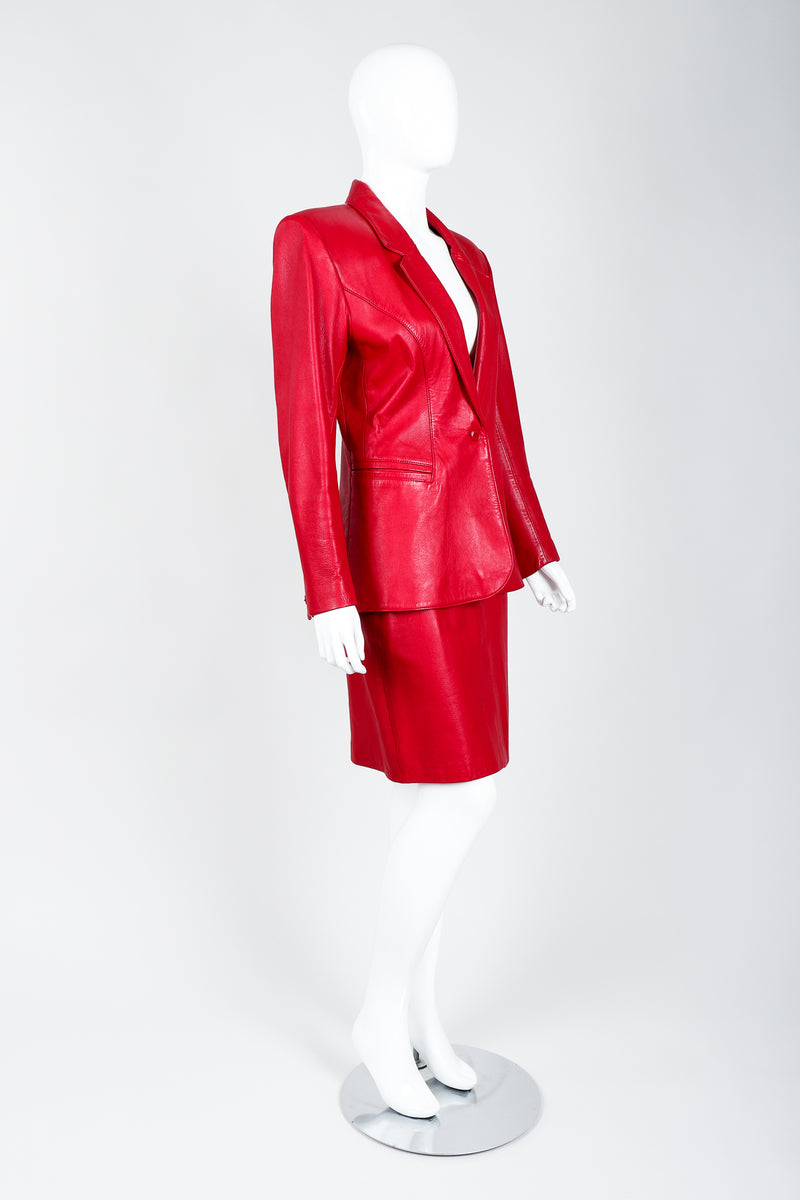 Vintage North Beach Leather by Michael Hoban\ Leather Suit on Mannequin side at Recess